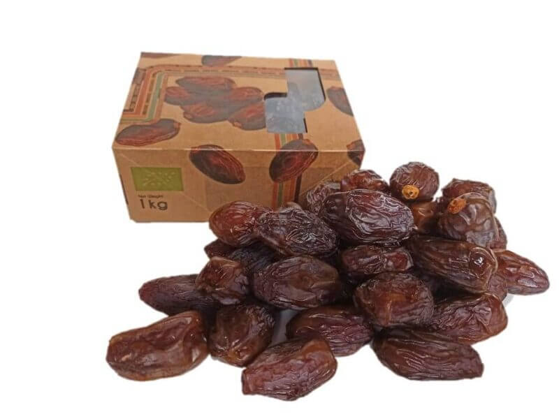 dadels 1kg bio datiles medjool 8x1kg fancy xl fruttas